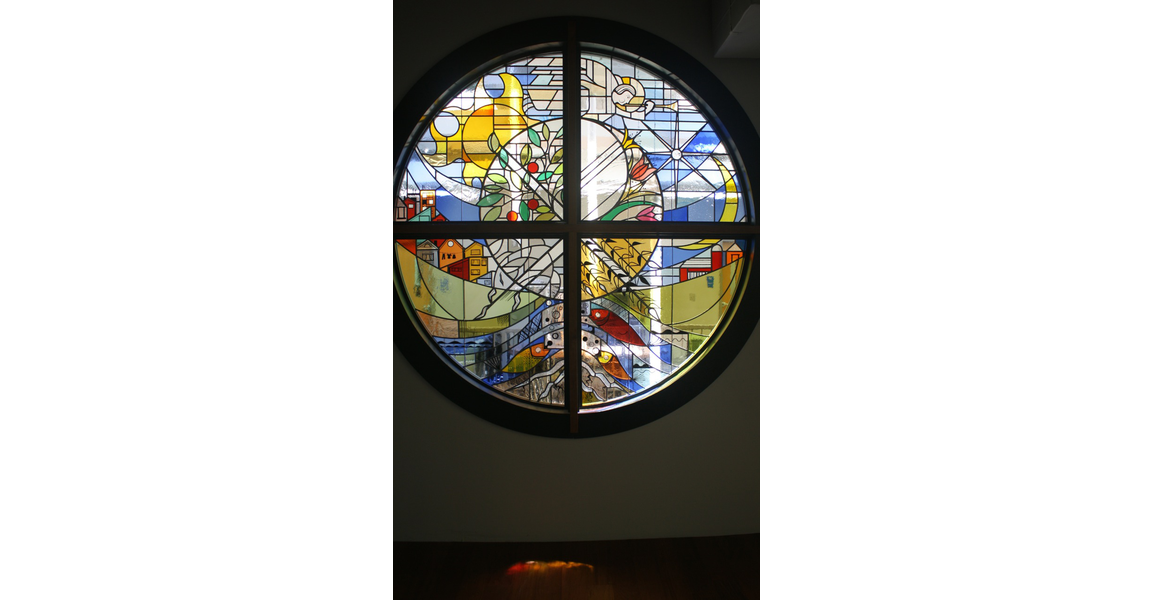 Chapel Stained Glass Window St Angela Merici Chapel Chatfield College 7 feet round