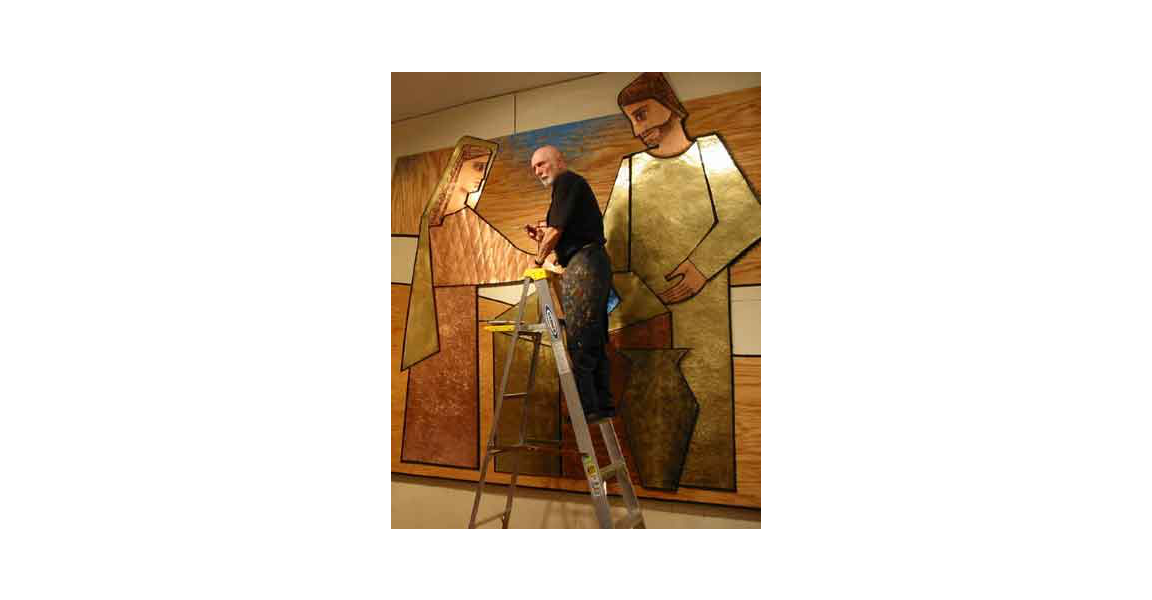 Michigan Church Mural I worked on with my father the late artist & designer William Schickel